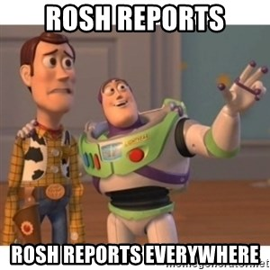 Toy story - Rosh reports Rosh reports everywhere
