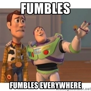 Toy story - fumbles fumbles everywhere