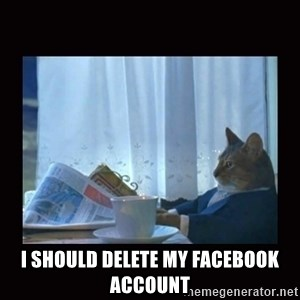 i should buy a boat cat -  I Should Delete my Facebook Account