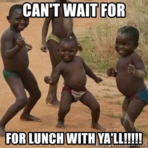 Dancing african boy - Can't wait for for lunch with ya'll!!!!!