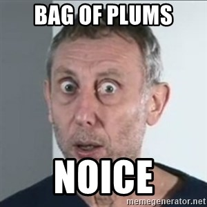 Michael Rosen stares into your soul - Bag OF PLUMS noice