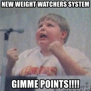 The Fotographing Fat Kid  - NEW WEIGHT WATCHERS SYSTEM GIMME POINTS!!!!