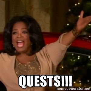 The Giving Oprah -  quests!!!