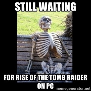 Still Waiting - still waiting for rise of the tomb raider on pc
