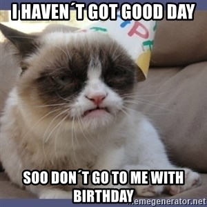 Birthday Grumpy Cat - i haven´t got good day soo don´t go to me with birthday