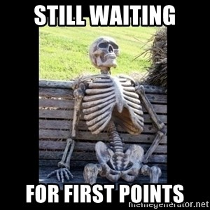 Still Waiting - still waiting for first points
