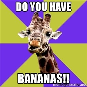 Photoshop Artist Giraffe - Do You have BANANAS!!