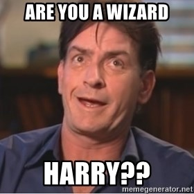 Sheen Derp - Are you a wizard Harry??