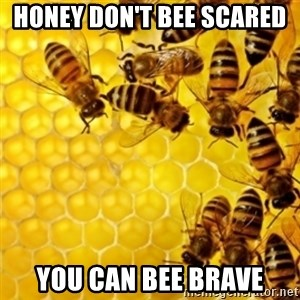 Honeybees - honey don't bee scared  you can bee brave