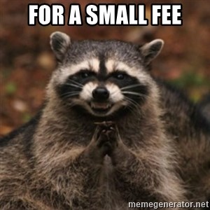 evil raccoon - For A Small Fee