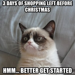 Grumpy cat good - 3 DAYS OF SHOPPING LEFT BEFORE CHRISTMAS HMM... BETTER GET STARTED