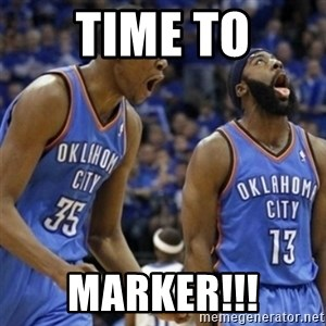 Kd & James Harden - TIME TO MARKER!!!