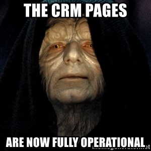Star Wars Emperor - The crm pages are now fully operational
