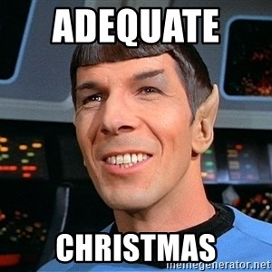smiling spock - adequate    Christmas