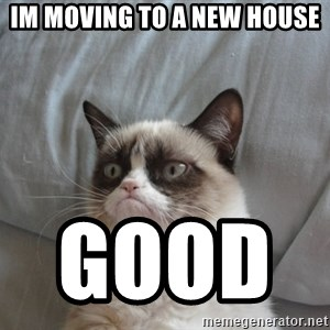 Grumpy cat good - im moving to a new house good
