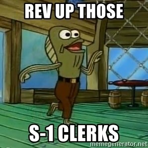 Rev Up Those Fryers - REV UP THOSE S-1 Clerks