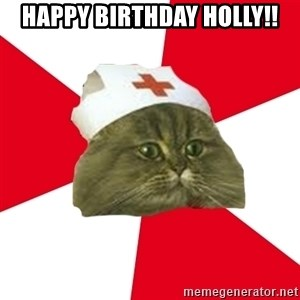Nursing Student Cat - Happy Birthday Holly!!