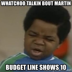 Gary Coleman II - whatchoo talkin bout martin budget line shows 10