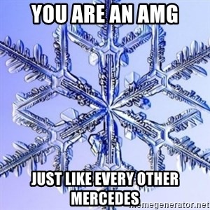 Special Snowflake meme - You are an AMG Just like every other Mercedes