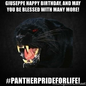 Roleplay Panther - Giuseppe Happy Birthday, and may you be blessed with many more! #Pantherprideforlife!