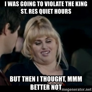 Better Not - i was going to violate the king st. res quiet hours but then i thought, mmm better not