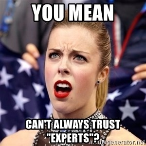 """Ashley Wagner Shocker - You mean can't always trust """"experts""""?"""