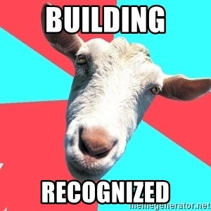 Oblivious Activist Goat - Building Recognized