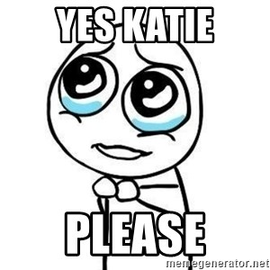 Please guy - YES KATIE PLEASE