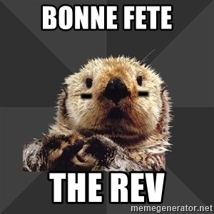 Roller Derby Otter - bonne fete the rev