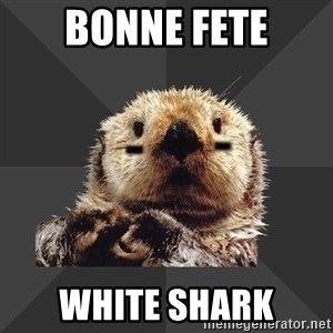Roller Derby Otter - bonne fete white shark