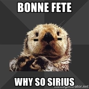 Roller Derby Otter - bonne fete why so sirius