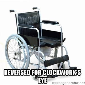 wheelchair watchout -  reversed for Clockwork's eye
