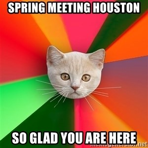 Advice Cat - Spring Meeting Houston So glad you are here