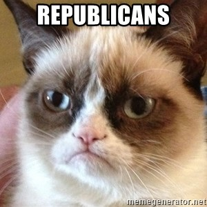 Angry Cat Meme - REPUBLICANS