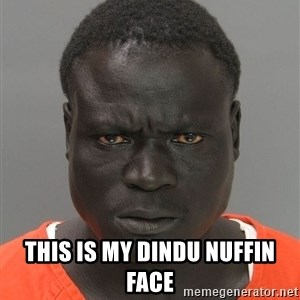 Jailnigger -  this is my dindu nuffin face