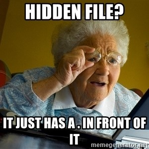 Internet Grandma Surprise - hidden file? it just has a . in front of it
