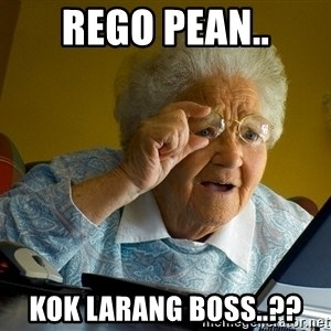 Internet Grandma Surprise - Rego pean.. Kok larang boss..??