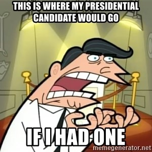 Timmy turner's dad IF I HAD ONE! - This Is Where My Presidential Candidate Would Go If I had one