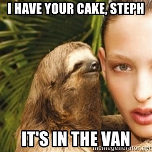sexy sloth - I HAVE YOUR CAKE, STEPH IT'S IN THE VAN