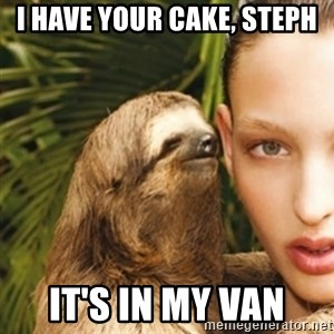 sexy sloth - I HAVE YOUR CAKE, STEPH IT'S IN MY VAN