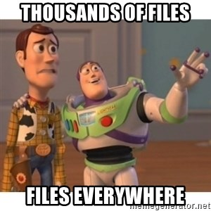 Toy story - thousands of files files everywhere