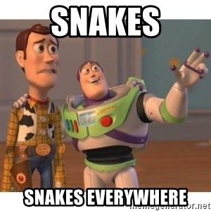 Toy story - snakes snakes everywhere