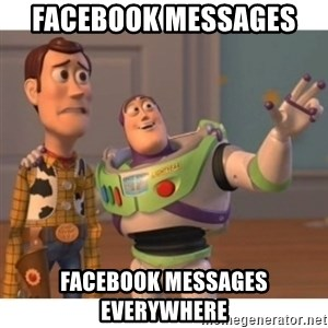 Toy story - Facebook messages  facebook messages everywhere