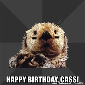 Roller Derby Otter -   Happy Birthday, Cass!