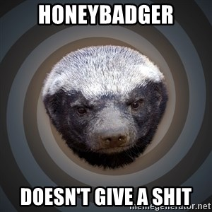 Fearless Honeybadger - Honeybadger Doesn't give a shit