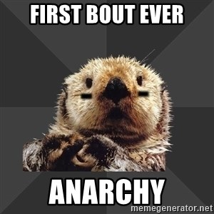 Roller Derby Otter - FIRST BOUT EVER ANARCHY