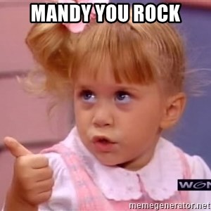 thumbs up - Mandy You rock