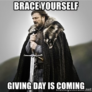 ned stark as the doctor - Brace Yourself Giving Day is Coming