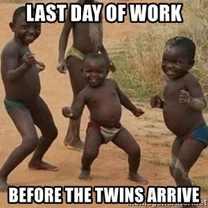 Dancing African Kid - last day of work before the twins arrive