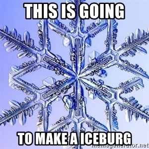 Special Snowflake meme - this is going to make a iceburg
